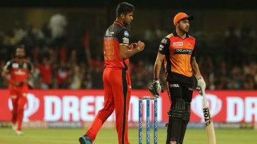 Washington Sundar celebrates a wicket
