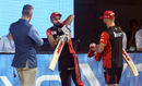 Kevin Pietersen, Virat Kohli and AB de Villiers in a chat, Royal Challengers Bangalore v Sunrisers Hyderabad, IPL 2019, Bengaluru, May 4, 2019