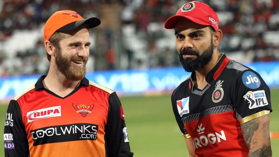 Kane Williamson and Virat Kohli before the toss