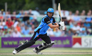 George Rhodes presses on to the front foot, Worcestershire v Derbyshire, T20 Blast, North Group, New Road, August 9, 2018