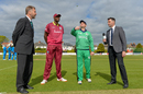 William Porterfield tosses, Jason Holder calls, Ireland v West Indies, Ireland Tri-Nation Series, Dublin, May 5, 2019