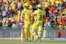 Faf du Plessis and Suresh Raina controlled the middle overs with a brisk partnership, Kings XI Punjab v Chennai Super Kings, IPL 2019, Mohali, May 5, 2019