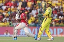 KL Rahul goes over the on side, Kings XI Punjab v Chennai Super Kings, IPL 2019, Mohali, May 5, 2019