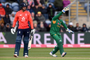 Sarfaraz Ahmed successfully appeals for a caught-behind decision, England v Pakistan, only T20I, Cardiff, May 5, 2019