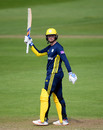 Aneurin Donald celebrates fifty, Somerset v Hampshire, Royal London One Day Cup, Taunton, May 5, 2019