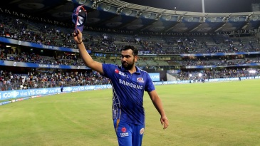 Rohit Sharma takes a lap of honour at the Wankhede