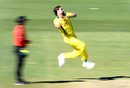 Kane Richardson runs in, Australia XI v New Zealand XI, 1st one-day game, Allan Border Field, May 6, 2019