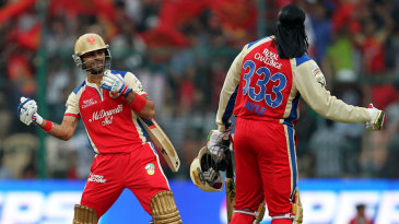 Chris Gayle, playing for Royal Challengers Bangalore, contributed an unbeaten 175 to the highest IPL total - 263, set in 2013 - and 7 to the lowest total - 49, in 2017