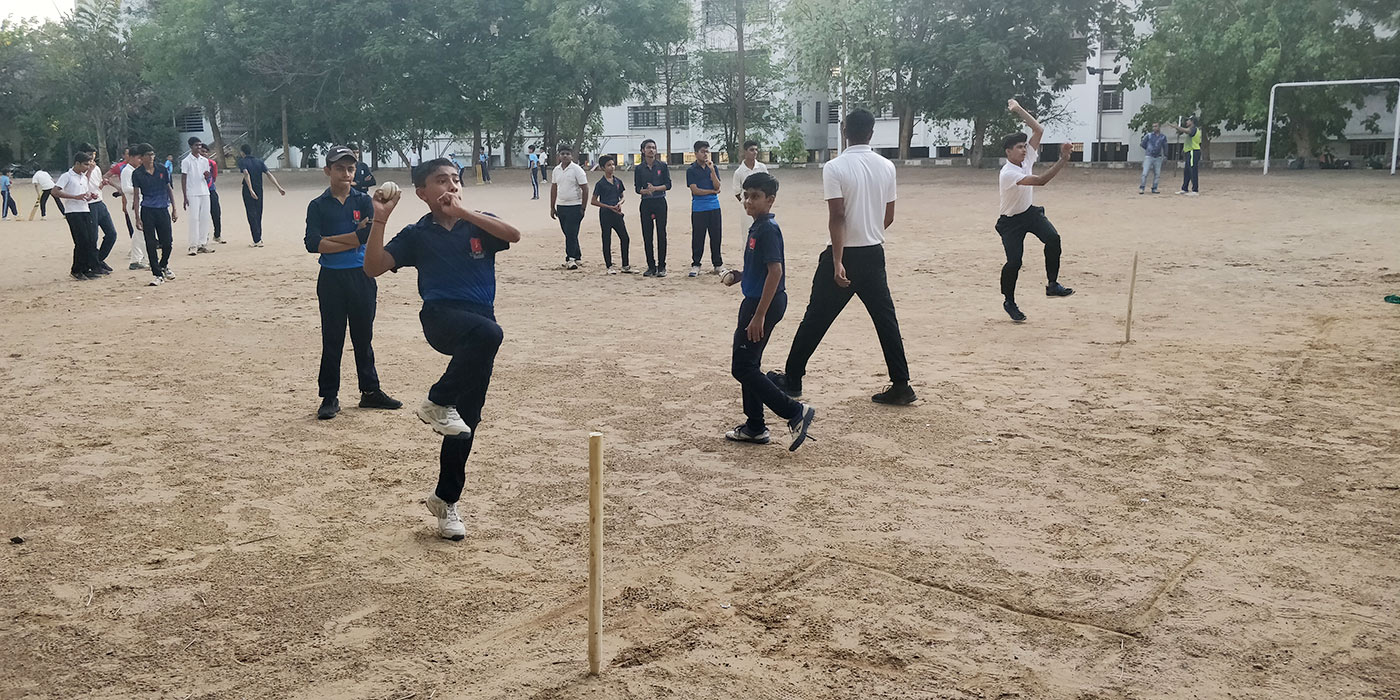Kids go through their paces at Nirman School, Bumrah's alma mater