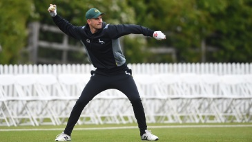 Alex Hales at a Notts training session