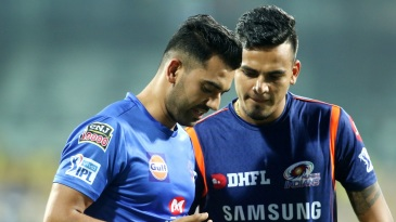 Deepak and Rahul Chahar compare notes