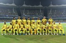 The Chennai Super Kings players pose for a group picture, Mumbai Indians v Chennai Super Kings, IPL 2019 Qualifier 1, Chennai, May 7, 2019