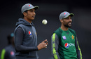 Mohammad Hasnain and Mohammad Amir look on, The Oval, May 7, 2019