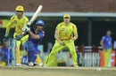 Ishan Kishan drives down the ground, Mumbai Indians v Chennai Super Kings, IPL 2019 Qualifier 1, Chennai, May 7, 2019