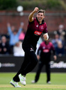 Jamie Overton celebrates a wicket, Somerset v Surrey, Royal London Cup, South Group, Taunton, May 7, 2019