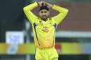 Harbhajan Singh reacts while bowling, Mumbai Indians v Chennai Super Kings, IPL 2019 Qualifier 1, Chennai, May 7, 2019