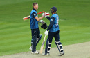 Zak Crawley is congratulated on his hundred, Kent v Middlesex, Royal London One Day Cup, Canterbury, May 7, 2019