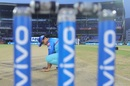 Sourav Ganguly takes a look at the Vishakhapatnam pitch, Delhi Capitals v Sunrisers Hyderabad, IPL 2019 Eliminator, Vishakhapatnam, May 8, 2019