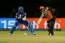 Manish Pandey drives through the off side, Delhi Capitals v Sunrisers Hyderabad, IPL 2019 Eliminator, Vishakhapatnam, May 8, 2019