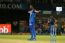 Keemo Paul strikes the Jesus pose to celebrate a wicket Delhi Capitals v Sunrisers Hyderabad, IPL 2019 Eliminator, Vishakhapatnam, May 8, 2019