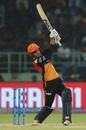 Mohammad Nabi swings one over the fence, Delhi Capitals v Sunrisers Hyderabad, IPL 2019 Eliminator, Vishakhapatnam, May 8, 2019