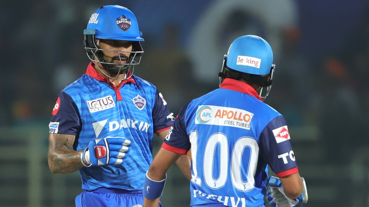 Prithvi Shaw set the pace in a brisk opening stand with Shikhar Dhawan