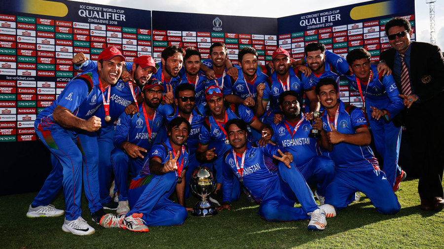 Afghanistan celebrate their victory