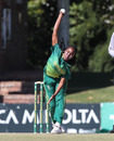 Tumi Sekhukhune sent back the Pakistan openers, South Africa v Pakistan, 2nd WODI, Potchefstroom, May 9, 2019
