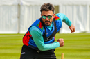 Hamid Hassan shakes off the rust at nets during preparation for his final World Cup, Edinburgh, May 9, 2019