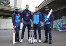 Adil Rashid, Stuart Broad, Joe Root and Moeen Ali at a NatWest #NoBoundaries event, May 9, 2019