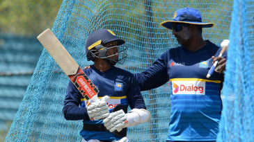 File photo: Avishka Gunawardene (right) has worked as the head coach of the Sri Lanka A side and the Emerging team