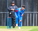 Hamid Hassan sends one down in his opening spell, Scotland v Afghanistan, 2nd ODI, Edinburgh, May 10, 2019