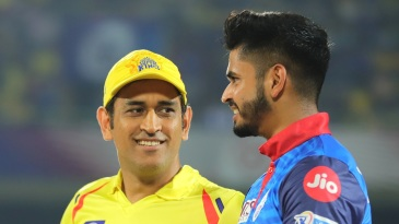 MS Dhoni and Shreyas Iyer - all smiles before the knockout clash