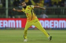 Imran Tahir celebrates in typical fashion after dismissing Shreyas Iyer, Chennai Super Kings v Delhi Capitals, IPL 2019 Qualifier 2, Visakhapatnam, May 10, 2019