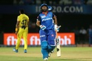 Rishabh Pant grimaces in pain after a Sherfane Rutherford drive hit his toe, Chennai Super Kings v Delhi Capitals, IPL 2019 Qualifier 2, Visakhapatnam, May 10, 2019