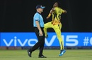 Dwayne Bravo celebrates a wicket, Chennai Super Kings v Delhi Capitals, IPL 2019 Qualifier 2, Visakhapatnam, May 10, 2019