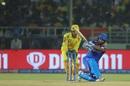 Rishabh Pant goes over the leg side, Chennai Super Kings v Delhi Capitals, IPL 2019 Qualifier 2, Visakhapatnam, May 10, 2019