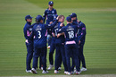 George Scott celebrates with his team-mates, Middlesex v Lancashire, Royal London Cup play-off, Lord's, May 10, 2019