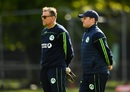 Graham Ford and William Porterfield look on at training, Ireland v West Indies, Match 4, Ireland tri-series, Dublin, May 11, 2019