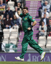 Yasir Shah punches the air, England v Pakistan, 2nd ODI, Ageas Bowl, May 11, 2019