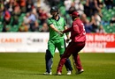 Ashley Nurse congratulates Andy Balbirnie for his 135, Ireland v West Indies, Match 4, Ireland tri-series, Dublin, May 11, 2019