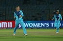 Lea Tahuhu of Supernovas celebrates a wicket, Supernovas v Velocity, Women's T20 Challenge final, Jaipur, May 11, 2019