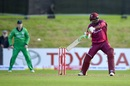 Sunil Ambris plays one off the back foot, Ireland v West Indies, Match 4, Ireland tri-series, Dublin, May 11, 2019