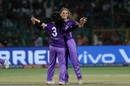 Mithali Raj and Amelia Kerr celebrate after Jemimah Rodrigues departs, Supernovas v Velocity, Women's T20 Challenge final, Jaipur, May 11, 2019