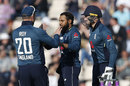 Adil Rashid claims the wicket of Babar Azam, England v Pakistan, 2nd ODI, Ageas Bowl, May 11, 2019