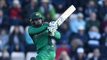 Asif Ali pulls through the leg side