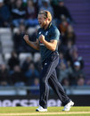 David Willey celebrates a key breakthrough, England v Pakistan, 2nd ODI, Ageas Bowl, May 11, 2019