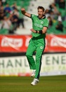 Boyd Rankin is pumped after striking for Ireland, Ireland v West Indies, Match 4, Ireland tri-series, Dublin, May 11, 2019