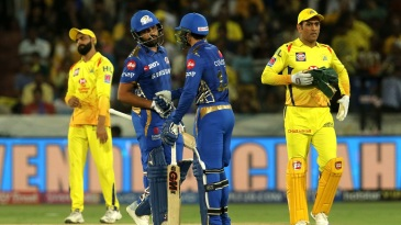 Rohit Sharma and Quinton de Kock gave MS Dhoni plenty to think about early on