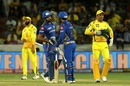 Rohit Sharma and Quinton de Kock gave MS Dhoni plenty to think about early on, Mumbai Indians v Chennai Super Kings, IPL 2019 final, Hyderabad, May 12, 2019